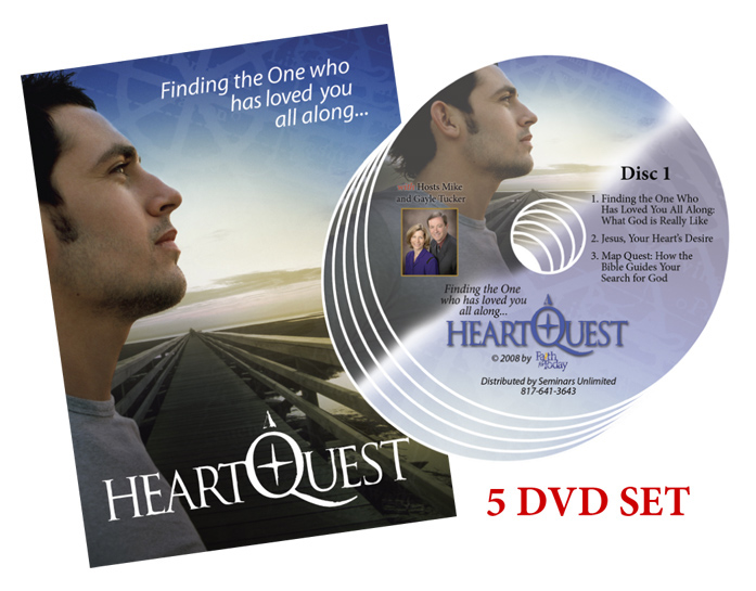 HeartQuest is a sermon series on DVD hosted by Mike Tucker, Speaker/Director for the international television ministry, Faith For Today.